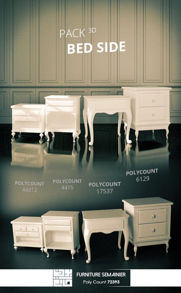 Pack Furniture Bed Side 3D Model  - 3DOcean Item for Sale