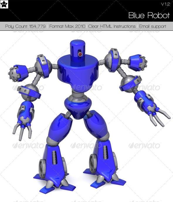 Blue Robot - 3DOcean Item for Sale