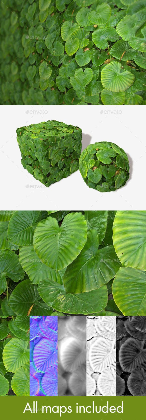 Jungle Leaves Background Seamless Texture - 3DOcean Item for Sale