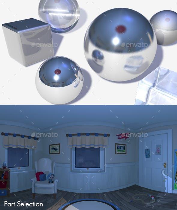 HDRI Nighttime Bedroom - 3DOcean Item for Sale