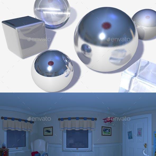 HDRI Nighttime Bedroom
