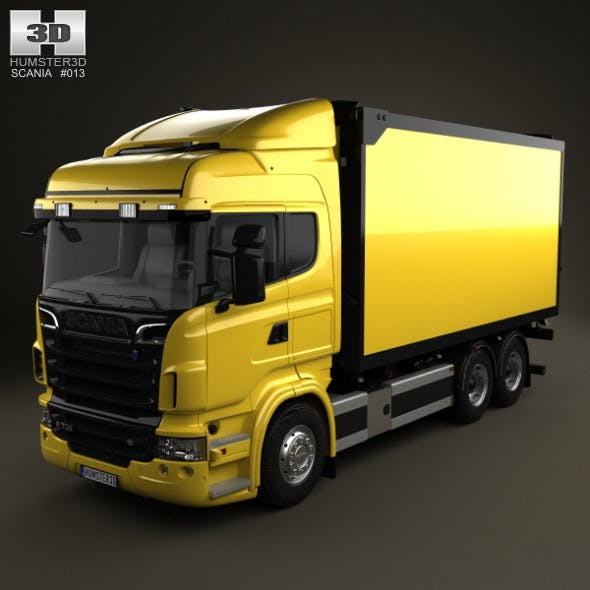 Scania R 730 Box Truck 2010 - 3DOcean Item for Sale
