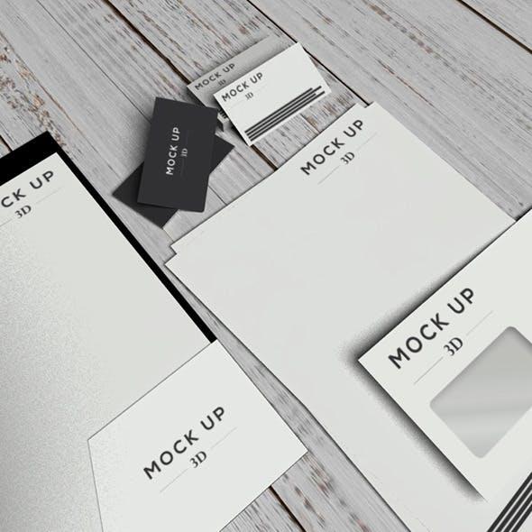 identity mock up - 3DOcean Item for Sale
