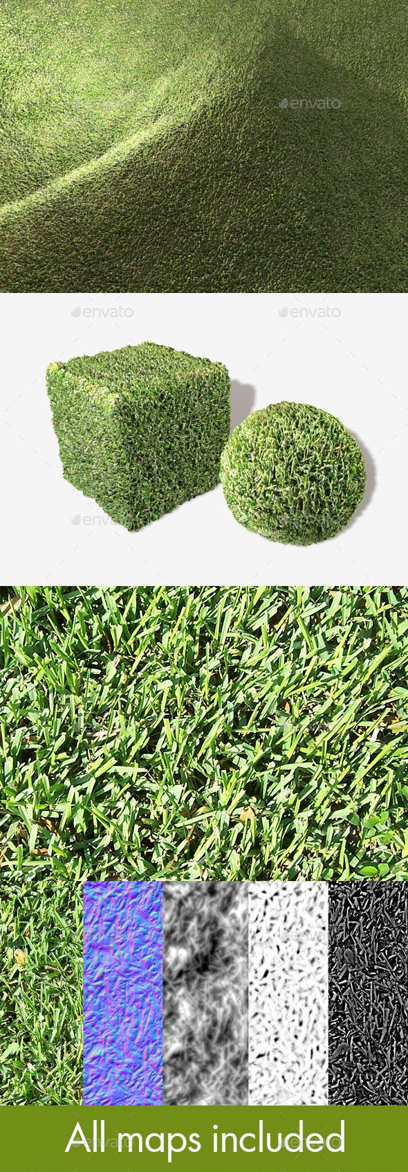 Thick Grass Seamless Texture - 3DOcean Item for Sale