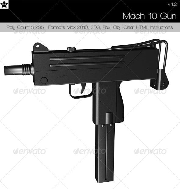 Mac 10 uzi - 3DOcean Item for Sale