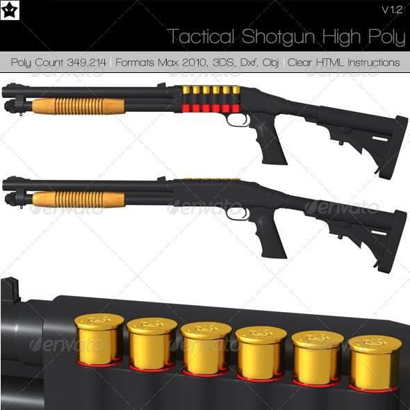 Tactical Shotgun High Poly