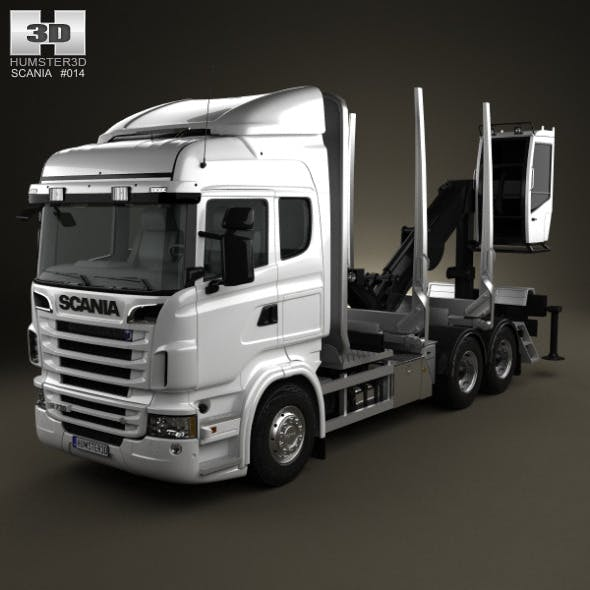 Scania R 730 Timber Truck 2010 - 3DOcean Item for Sale