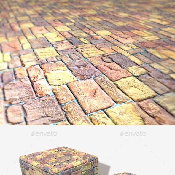 Painted Random Bricks Seamless Texture