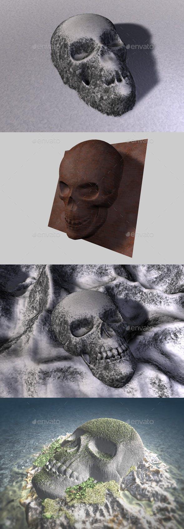 Skull Depth Map 1 - 3DOcean Item for Sale