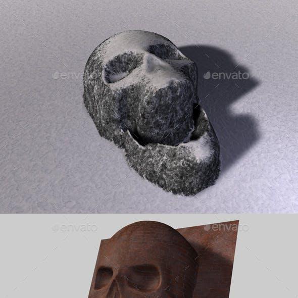 Skull Depth Map 2