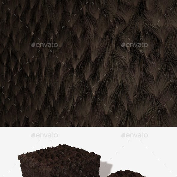 Brown Clumpy Fur Seamless Texture