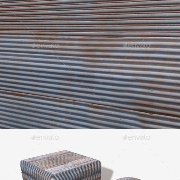 Corrugated Iron Seamless Texture