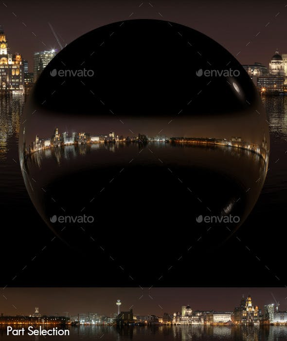Sea Reflections Night City Skyline HDRI - 3DOcean Item for Sale
