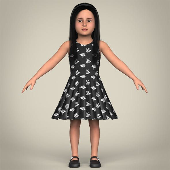 Realistic Little Girl