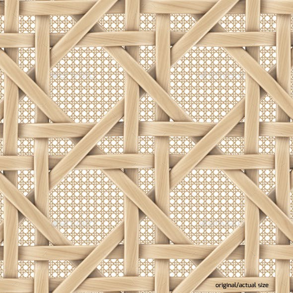 French rattan wicker pattern texture