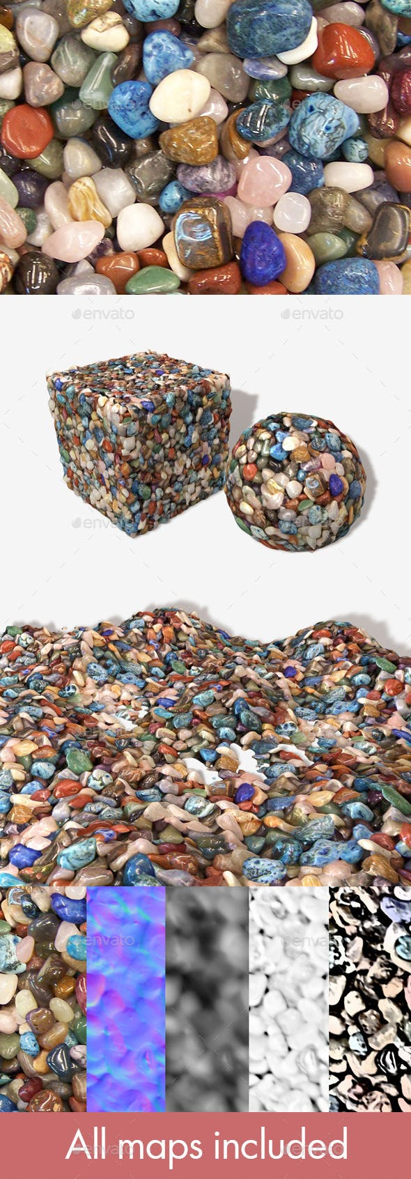 Polished Stones Seamless Texture - 3DOcean Item for Sale