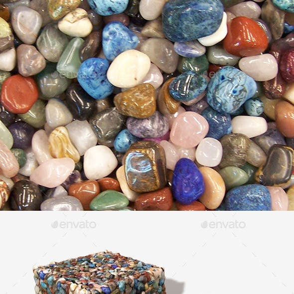 Polished Stones Seamless Texture
