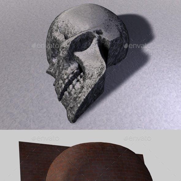 Skull Depth Map 3