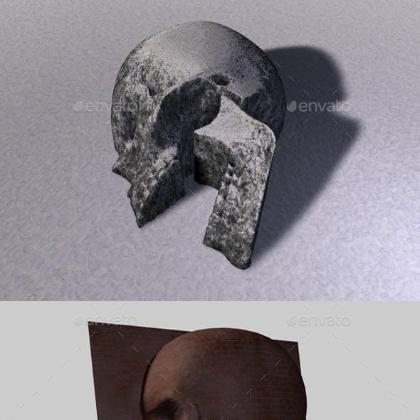 Skull Depth Map 4