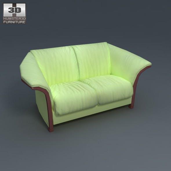 Manhattan Loveseat - Ekornes - 3D Model.  - 3DOcean Item for Sale