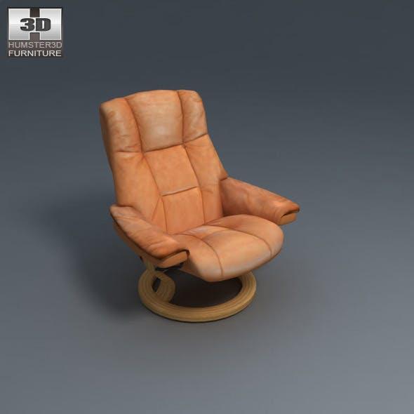 Mayfair armchair - Ekornes Stressless - 3D Model.  - 3DOcean Item for Sale