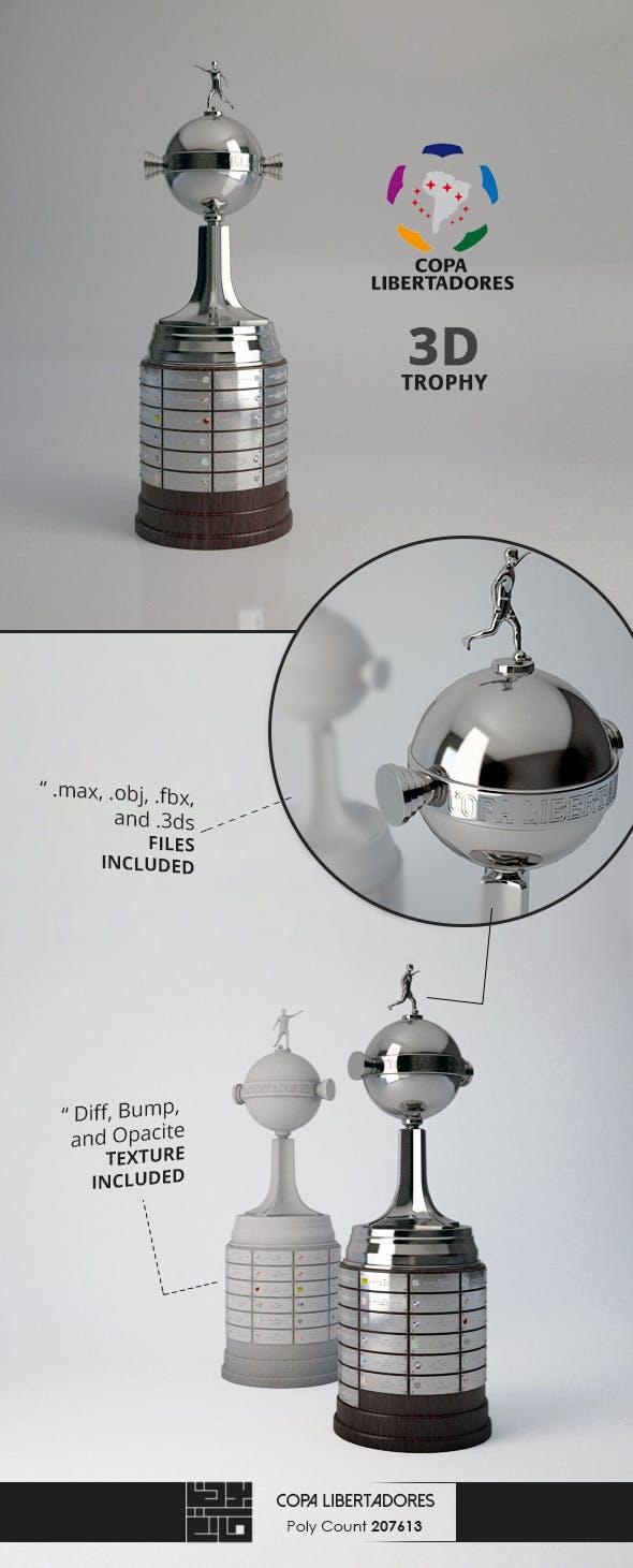 Copa Libertadores Trophy 3D Model  - 3DOcean Item for Sale