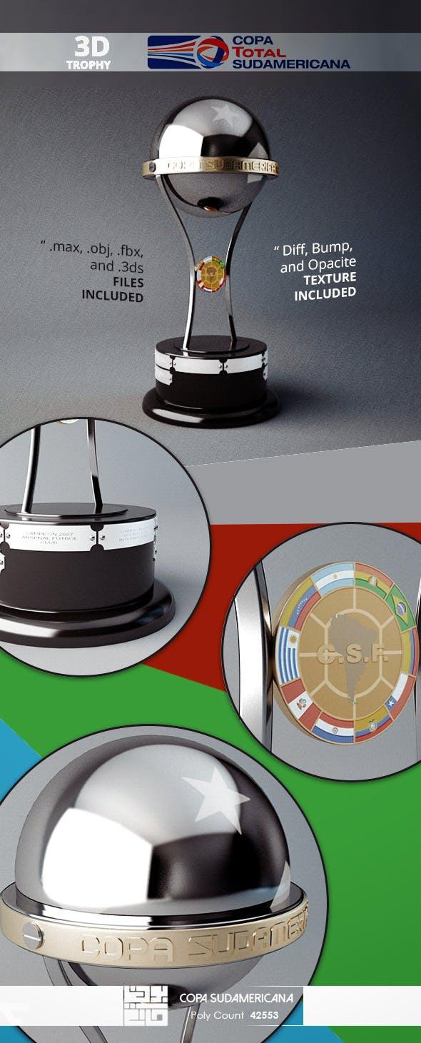 Copa Sudamericana Trophy 3D Model  - 3DOcean Item for Sale