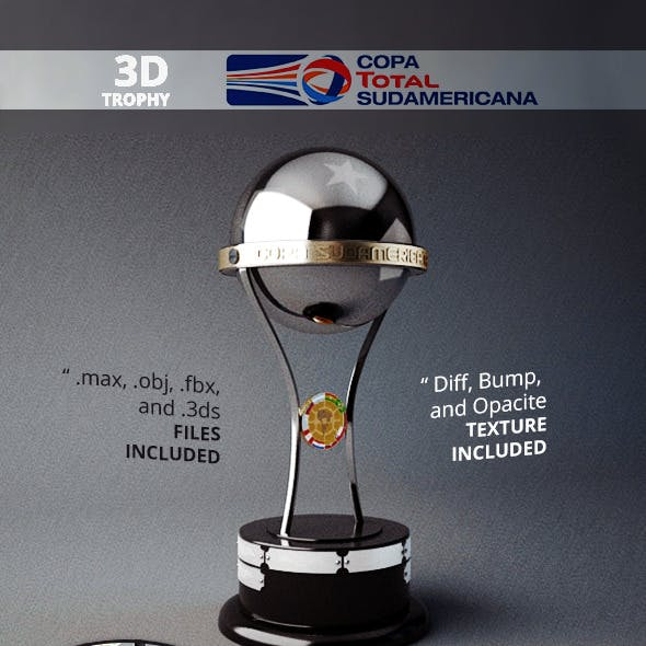 Copa Sudamericana Trophy 3D Model