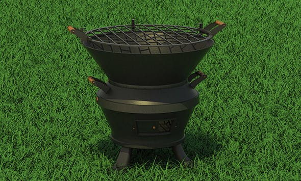 BBQ Grill - 3DOcean Item for Sale