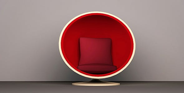 Egg style chair - 3DOcean Item for Sale