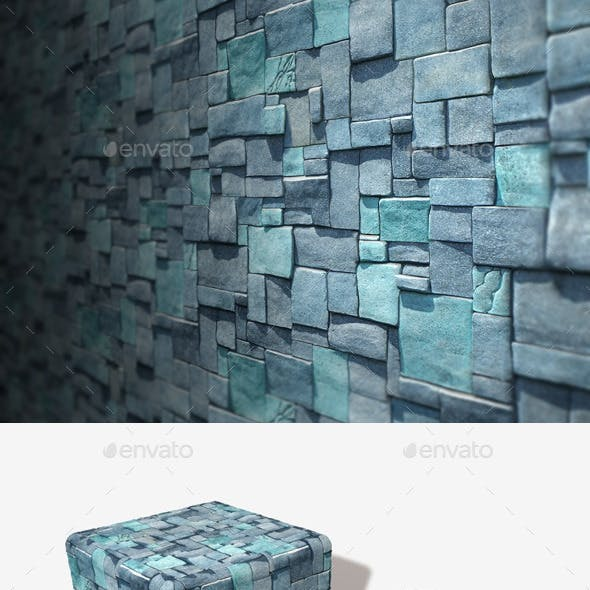 Blue Cube Bricks Seamless Texture