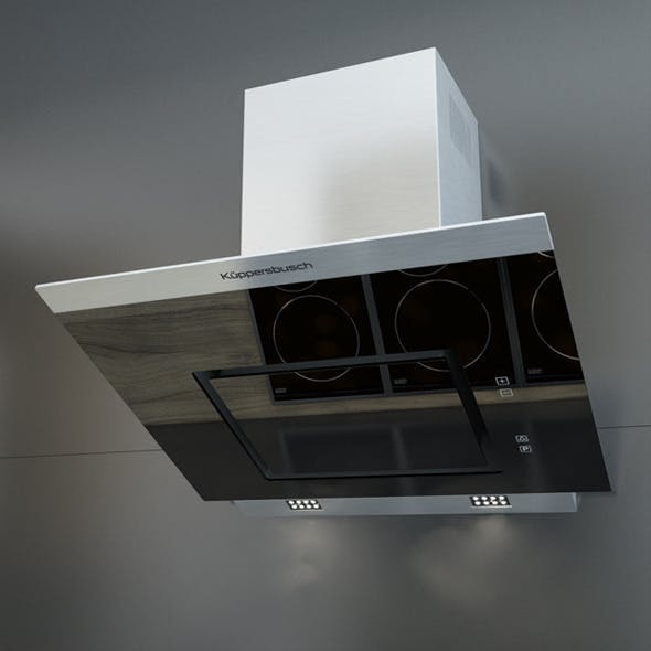 Kuppersbusch KD 7610 Black Kitchen Hood - 3DOcean Item for Sale