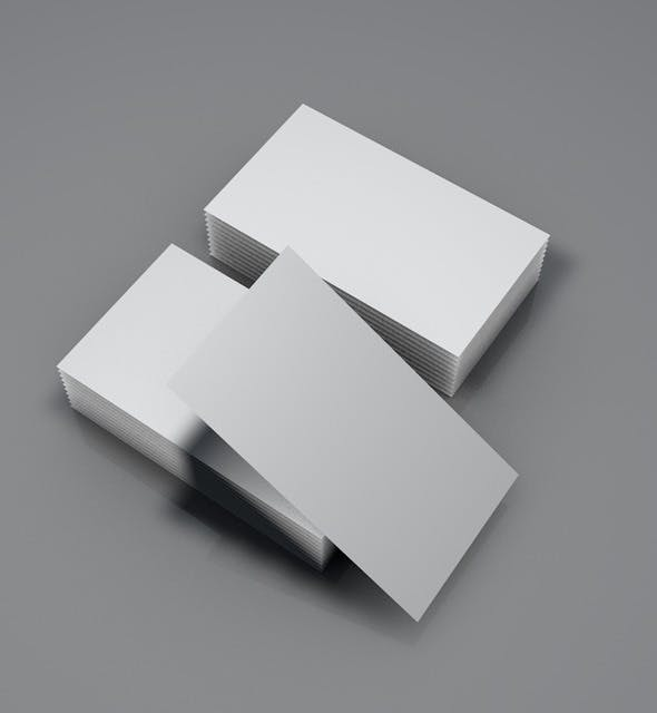 Business Card Stack - 3DOcean Item for Sale