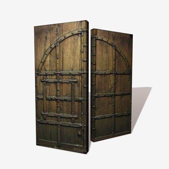 Wooden Castle Door Low Poly - 3DOcean Item for Sale