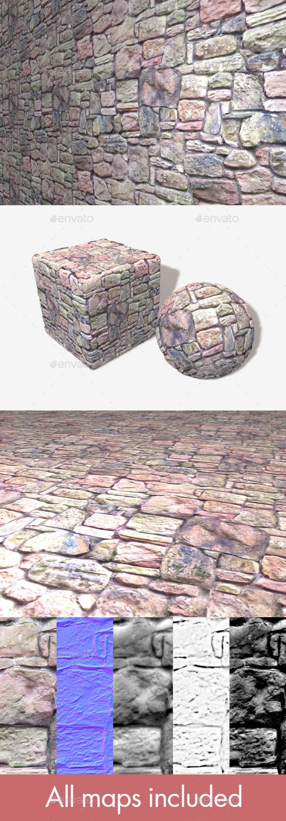 Rock Wall Seamless Texture - 3DOcean Item for Sale