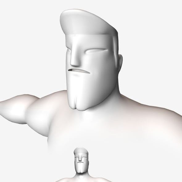 Low Poly Base Mesh Muscular Male Super Hero