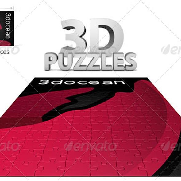 3D Customizable Puzzle Set (16x10)