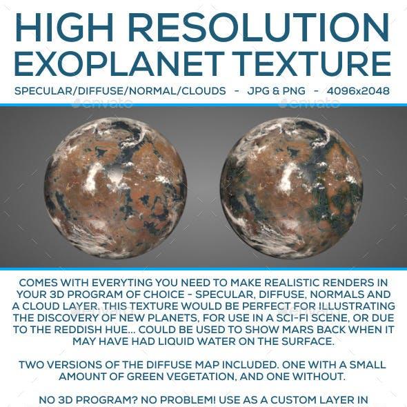 Exoplanet Texture