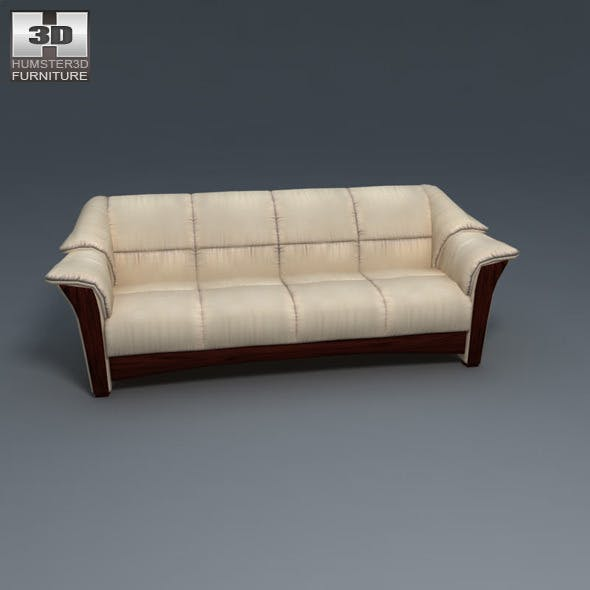 Oslo sofa - Ekornes Stressless - 3D Model.  - 3DOcean Item for Sale