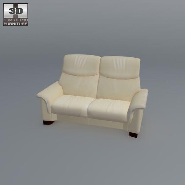 Paradise Loveseat - Ekornes Stressless - 3D Model. - 3DOcean Item for Sale