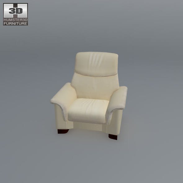 Paradise chair - Ekornes Stressless - 3D Model.  - 3DOcean Item for Sale