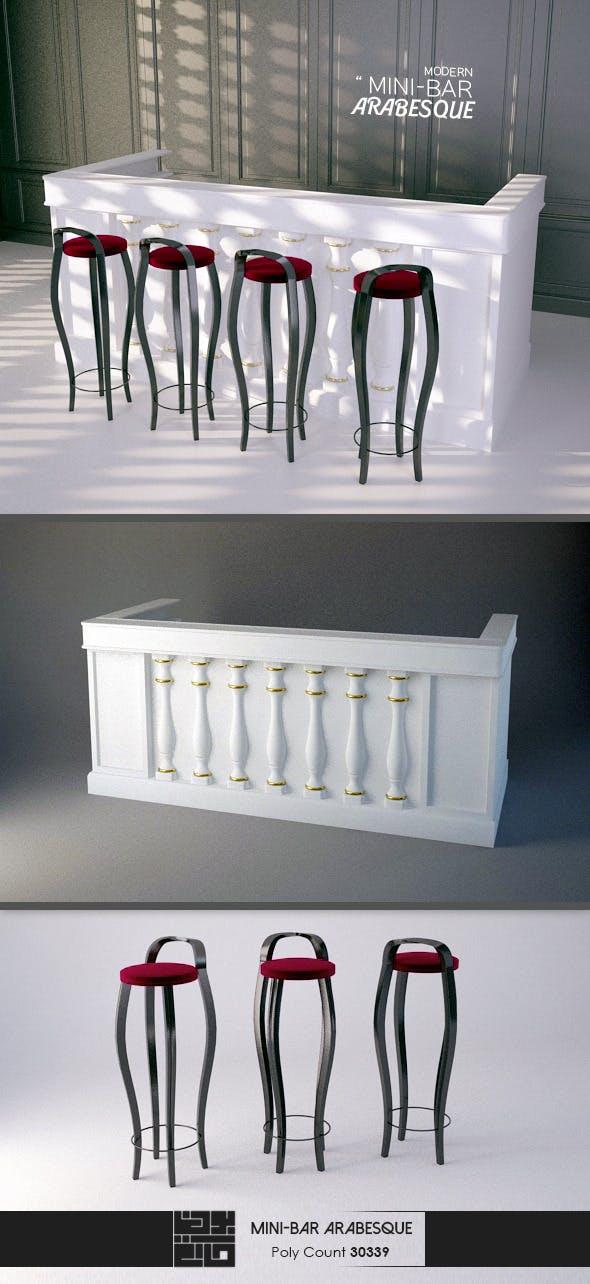 Arabesque Mini Bar 3D Model - 3DOcean Item for Sale