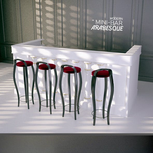 Arabesque Mini Bar 3D Model