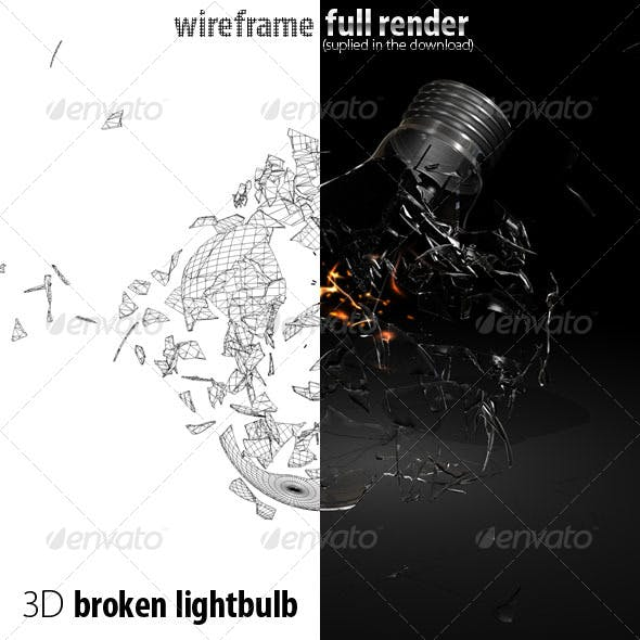 Broken 3D lightbulb