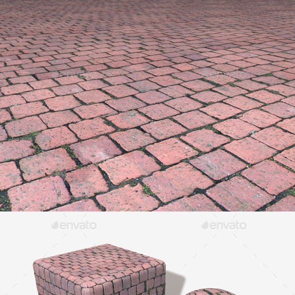 Red Cobblestone Seamless Texture