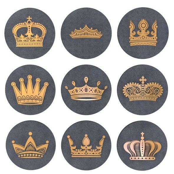 Crown Symbols - 3DOcean Item for Sale