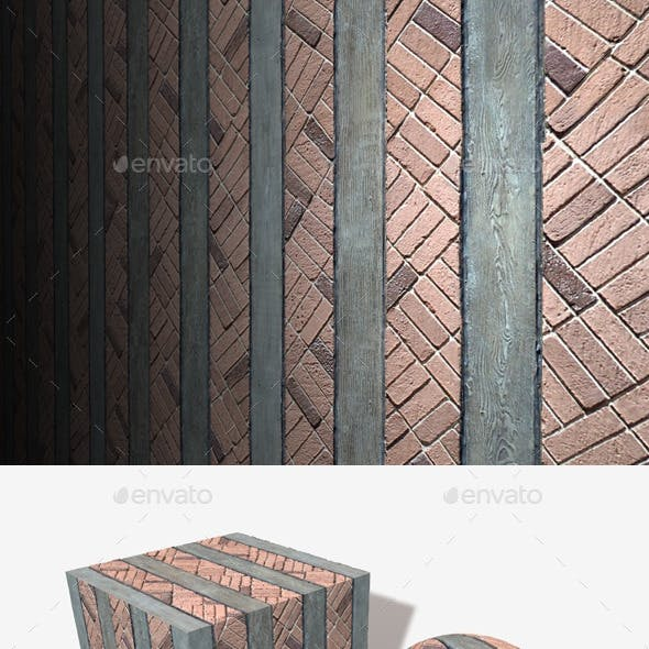 Cottage Brick and Wood Seamless Texture