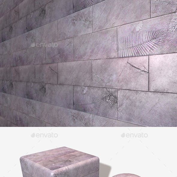 Polished Fossil Tile Seamless Texture