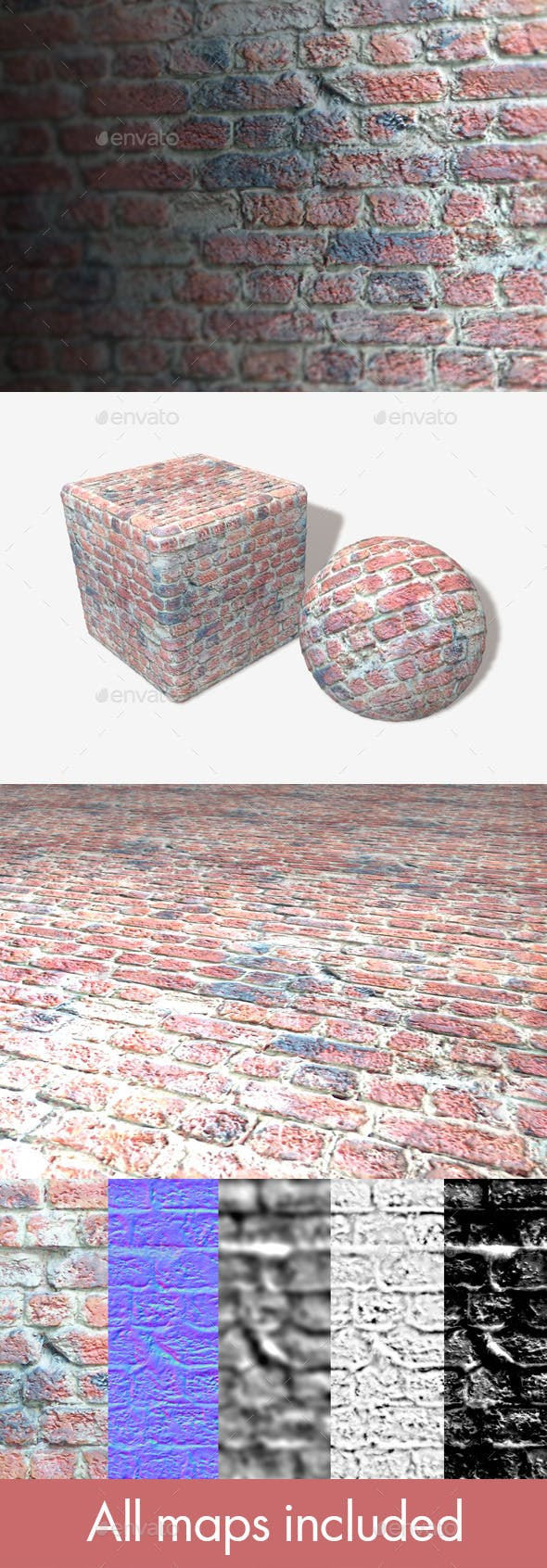 Brick Wall with Messy Cement Seamless Texture - 3DOcean Item for Sale