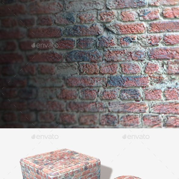 Brick Wall with Messy Cement Seamless Texture